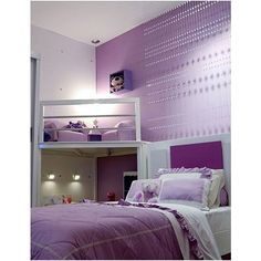 Purple Bedrooms for Teenage Girls (Photos) ❤ liked on Polyvore featuring rooms