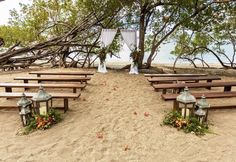 We love this authentic rustic set up in front of the ocean at Secrets Papagayo Costa Rica.