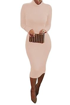 fadbb4ea Pink Queen® Womens Turtleneck Long Sleeve Mid Length Bodycon Bandage Dress  (Small, Pink): Size Details/b br S: br M: br L: br XL: br XXL: br Notice:  Due to ...
