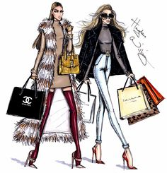 #Hayden Williams Fashion Illustrations #Holiday Retail Therapy by Hayden Williams