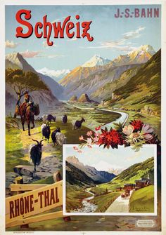 Schweiz - Rhone-Thal - 1893 - (Hugo d'Alesi) -