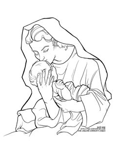 Feast of immaculate conception immaculate conception and for Blessed mother coloring page