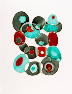I love this piece. Contemporary Abstract Art Print Giclee on Photo Luster  Bold Color Geometric Shapes Choose Size