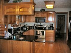 Starmark Cherry Cabinets With Harvest Stain And Chocolate