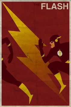 Vintage style Superhero posters--great for a boys room