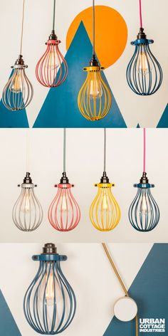 Incorporate these beautiful light pendants into your nursery design, office decor or bedroom design. Your home decor will have so much more color and light! Cage Pendant Light, Cage Light, Modern Bedroom Design, Nursery Design, Room Lights, Ceiling Lights, Nursery Lighting, Pendant Lighting Bedroom, Balloon Lights
