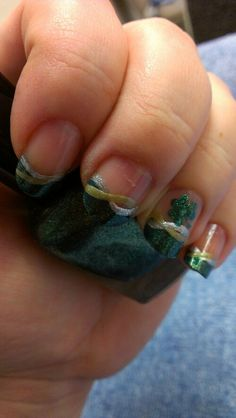 St.Patrick's Day nail art
