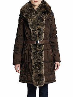 GORSKI Apres Fox Fur Trim Ski Jacket