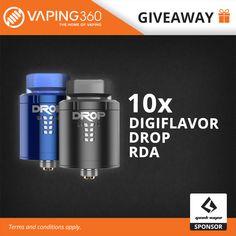 10 x Digiflavor Drop RDA Giveaway by Geekvape