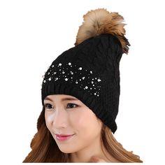 $7.99 (Buy here: https://alitems.com/g/1e8d114494ebda23ff8b16525dc3e8/?i=5&ulp=https%3A%2F%2Fwww.aliexpress.com%2Fitem%2FWomen-winter-hat-Rivets-pearl-Decoration-wool-knitted-beanies-cap-real-raccoon-fur-pompom-hats-ski%2F32772651957.html ) Fashion Women Winter Knited Hat Rivets Pearl Wool Knitted Beanies Cap Real Raccoon Fur Pompom Hats Ski Gorros Cap Female F2 for just $7.99