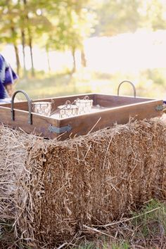 hay bale wedding ideas Archives - Southern Weddings