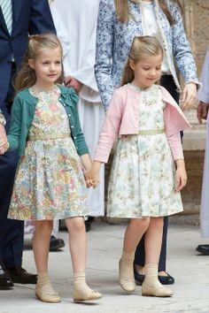 H.R.H. Princess Leonor and her sister Princess Sofía of Spain.