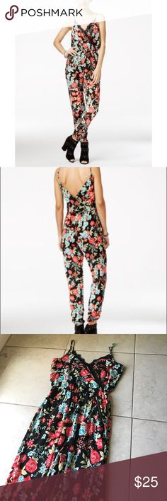 Material Girl Floral Jumpsuit Size Small *PRICE FIRM* Material Girl Dresses