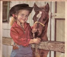 1950s Vintage Cowgirl & Pony Calendar Art Print @ Vintage Touch $6.00