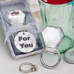 Bling Diamond Ring Bottle Opener Favors