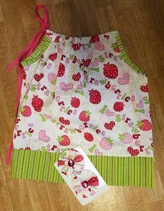 18 month pillowcase dress with matching by RufflesandRibbonBows