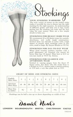 From the John Lewis Partnership Archive #vintage #advertisement #stockings