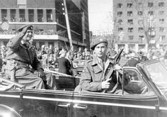 Saboteur Max Manus given the honor of escorting and protecting King Olav V Of Norway after the second world war ended.