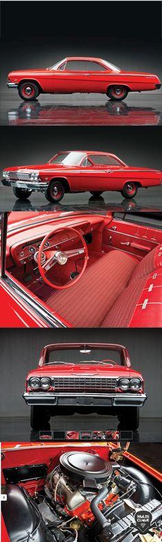 1962 Chevrolet Bel Air Sport Coupe #chevroletimpala1962 #classiccarschevroletss