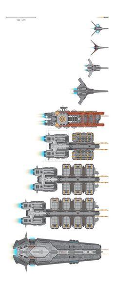 Scifi game assets from Chin Li Zhi Spaceship Design, Spaceship Concept, Concept Ships, Concept Art, Cyberpunk, Star Trek Rpg, Top Down Game, Battlefleet Gothic, 2d Game Art