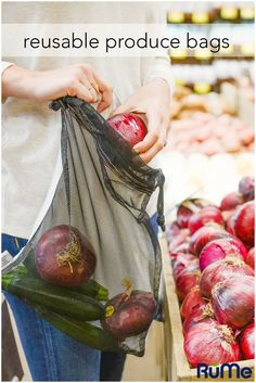 Are you tired of wasting plastic produce bags? Go the reusable route! These…
