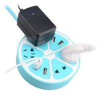 Universal Power Strip 4 USB Port Plug Charging Socket Charger For iPhone Samsung Smartphone  Specifi