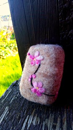 Cherry Blossom Soap Felted Soap
