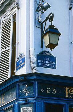 Corner of Rue de Sévigné and Rue des Francs-Bourgeois in the Marais Le Marais Paris, Paris City, Paris Street, Vientiane, Tour Eiffel, Paris France, Budapest, Tuileries Paris, Little Paris