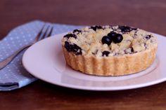 Vegane Blaubeertarte mit Kokosknusper / Vegan Blueberry Pie with Coconut Crumble