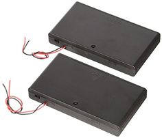Net_Cafe Plastic Battery Case Holder 8 x AA 12V Battery Case Box Wired ONOFF Switch Set of 2pcs *** For more information, visit image link.