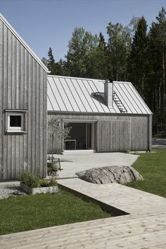 Shed Homes, Prefab Homes, Modern Barn House, Modern House Design, Cottage Design, Wooden House, Cummins, House In The Woods, My Dream Home