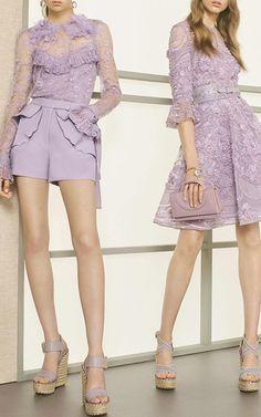 Three Quarter  Length Sleeve Cocktail Dress by ELIE SAAB for Preorder on Moda Operandi