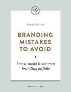 Marketing Strategy Discover Branding Mistakes to Avoid Spruce Rd. Branding Mistakes to Avoid Web Design, Design Jobs, Website Design, Brand Design, Graphic Design, Logo Design Tips, Graphic Art, Inbound Marketing, Business Marketing