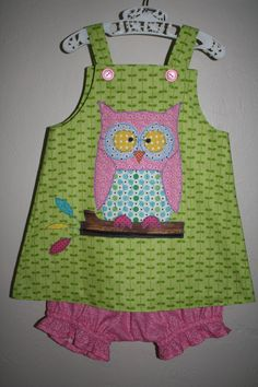Hootie Tootie Owl Jumper and Bloomers by PamiesCraftyAttic on Etsy, $28.00
