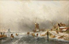 Dutch Winter Scene Dutch Winter Scene by Charles Henri Joseph Leickert National Trust Date painted: 1883
