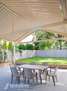 Style options range from flat roofing to gable and skillion and you can choose insulated panels for noise and heat/cold reduction, Spanlites® for allowing low UV light and opening roofs for versatility in a range of weather. Insulated Panels, Roof Deck, Australian Homes, Home Additions, Sunroom, Shelter, Pergola, Sweet Home, Weather