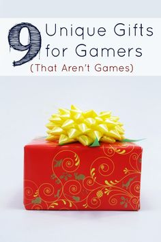 It can be tough to find the perfect gifts for gamers when you don't know what games they have or don't have. This is the perfect list of unique gift ideas for gamers. that aren't games. Cool Gifts, Diy Gifts, Unique Gifts, Best Gifts, Geek Christmas Gifts, Christmas Diy, Gamer Gifts, Gifts For Gamers, Board Game Design