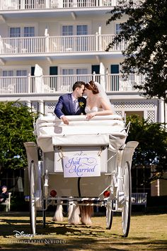 Escape to your happily ever after in a horse-drawn coach with Disney's Fairy Tale Weddings