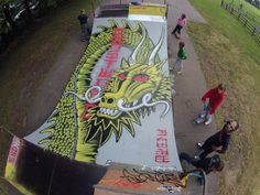 Mini ramp graphic Powell Peralta. Skateboarding with style.