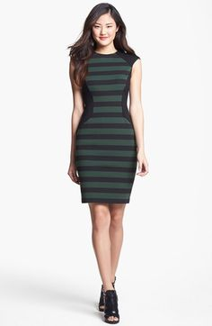 Vince Camuto Stripe Sheath Dress (Regular & Petite) | Nordstrom