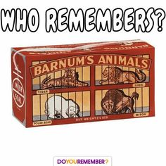 Did you love Animal Crackers growing up?⠀ #DoYouRemember #Nostalgia #Memories
