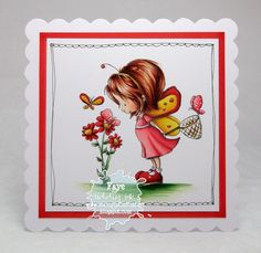 Copic Card Made by Faye Copic Markers Tutorial, Tiddly Inks, Wrap Gifts, Ink Stamps, Making Cards, Copics, Paper Cards, Kids Cards, Colouring