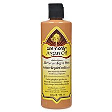 One 'n Only Argan Oil Moisture Repair Conditioner is a daily conditioner that helps reconstruct, detangle and replenish moisture levels, instantly revitalizing dull, weak, and damaged hair. My fave new hair product with the shampoo and leave in oil.  Got it at Sally Beauty last week and notice a huge difference! :-) Q