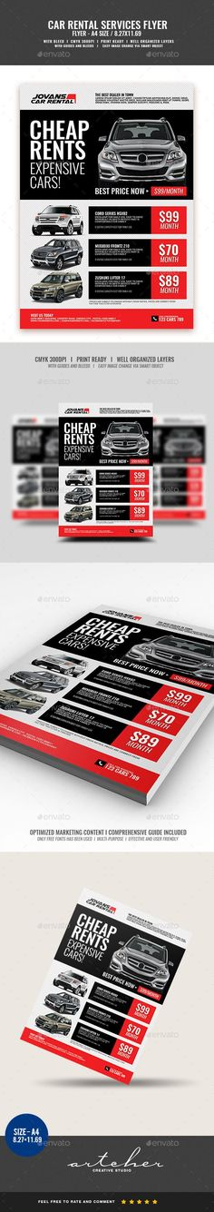 a4 flyer, advertisement, car, car for rent, car lease, car rent, car services, car shop, for rent, handout, lease, mechanic, multi color, rent, rent a car, rental, rental services, service rental Car Rental Services Flyer   Boost your company's sales and attract new customers! This flyer has been developed to boost your Ultimate Marketing Opportunity and brand/product awareness for large and small businesses, with well-studied and effective marketing content.  Specification:     A4…