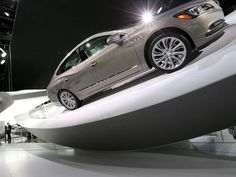 A Buick Lacrosse is dramatically displayed during the 2016 North American International Auto Show held at Cobo Center in downtown Detroit on Monday, January Buick Lacrosse, Detroit Auto Show, Cool Cars, January 11, In This Moment, American, Display, Floor Space, Billboard