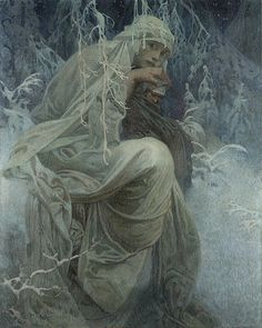 A Winter Tale by Alphonse Mucha