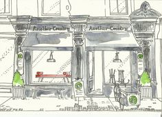 Another Country storefront sketch | Charles Mellersh