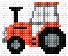 Diy Crafts - 30 x 25 stitches 4 colors Cross Stitch For Kids, Mini Cross Stitch, Cross Stitch Cards, Simple Cross Stitch, Cross Stitching, Cross Stitch Embroidery, Knitting Charts, Baby Knitting Patterns, Loom Patterns