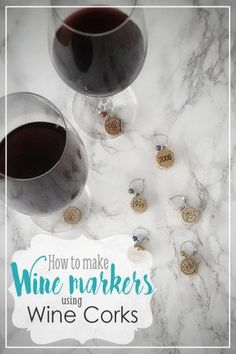 wine glass marker, t