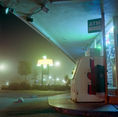 lonely gas station